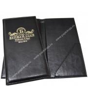 Купить черный папки для счетов с логотипом