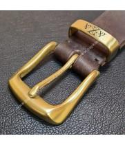 Кожаный ремень с гравировкой